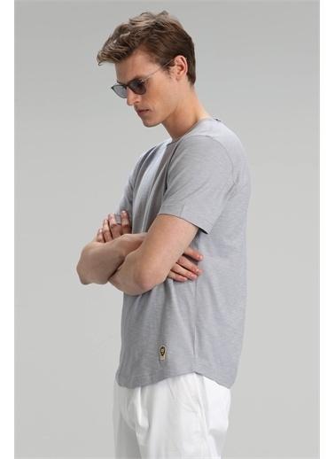 Lufian Junya Modern Grafik T- Shirt Haki Gri